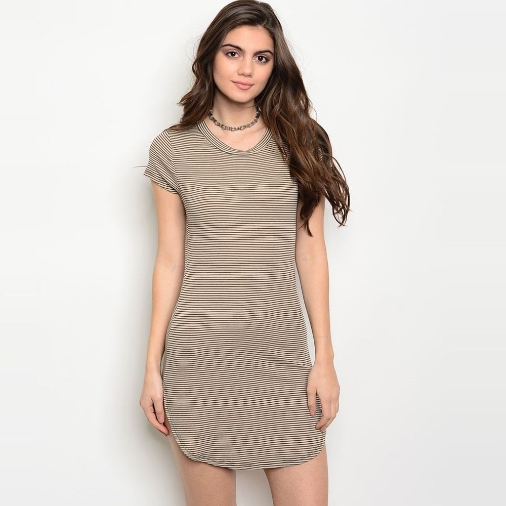 Shop the trends womenus short sleeve lightweight ribbed mini dress