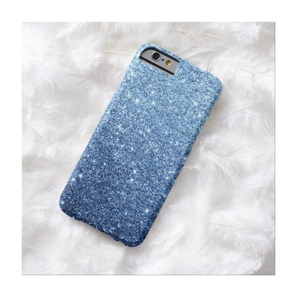 Elegant Navy Blue Glitter Luxury iPhone 6 Case (59 CAD) ❤ liked on Polyvore featuring accessories, tech accessories, phone cases, phone, cases and electronics