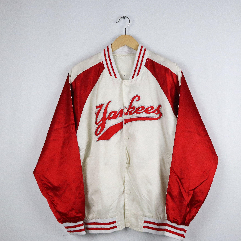 Rare Vintage 80s 90s Yankees Bomber Varsity Jacket Mlb Los In 2020 Varsity Jacket 90s Yankees Street Wear