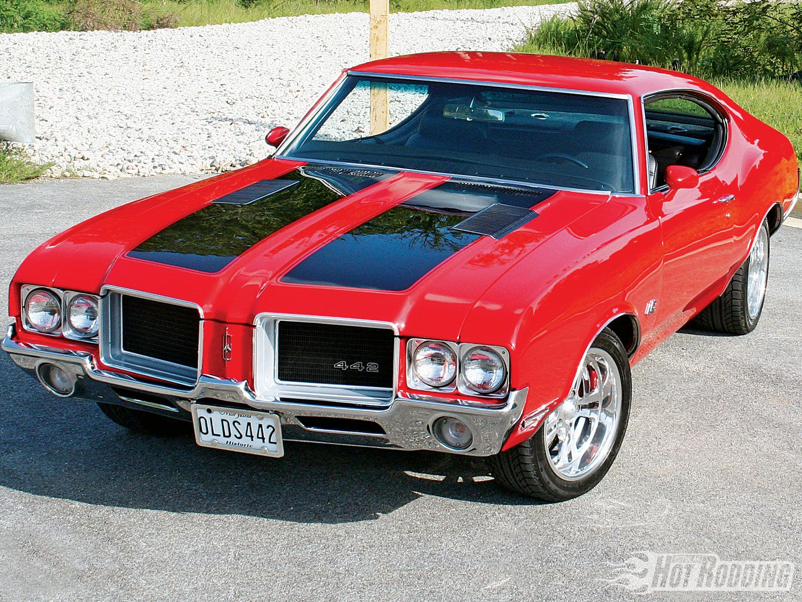 1969 Oldsmobile 442 Red