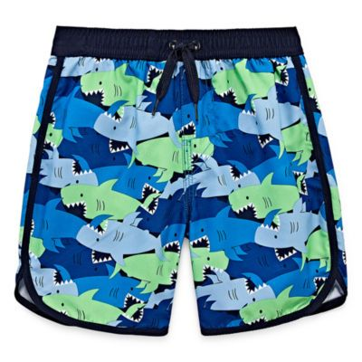57e9a8dc58 Okie Dokie Shark Print Swim Trunk - Toddler Boys | SWIM | Swim ...
