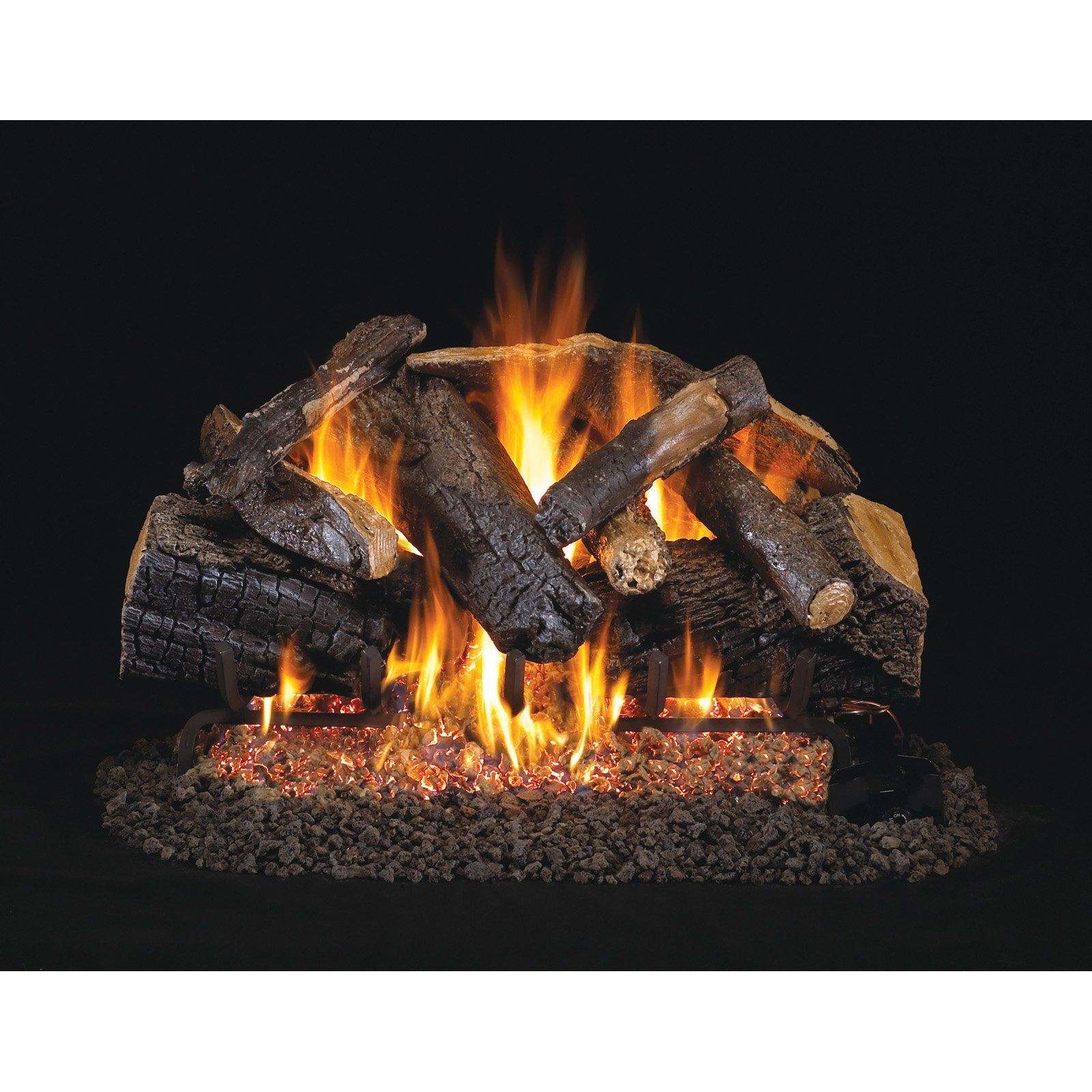 Real Fyre Charred Majestic Oak Vented Gas Log Set with