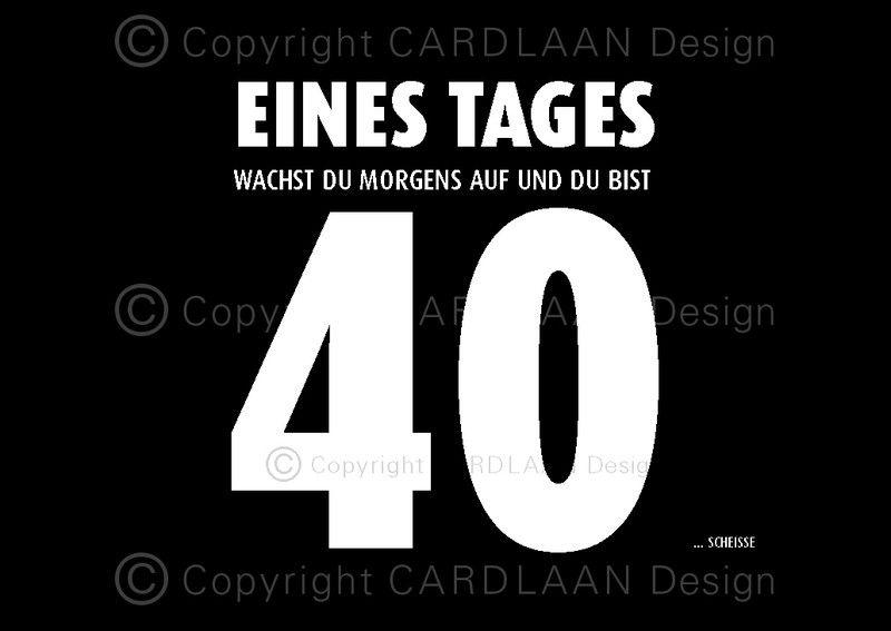 Schön Einladungskarten   Einladung 40. Geburtstag (Eines Tages 40)   Ein  Designerstück Von CARDLAAN Bei DaWanda