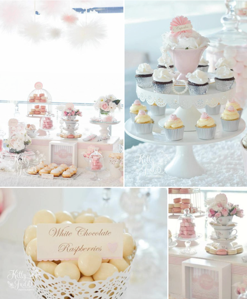 Pretty Pink Vintage Wedding Girl Party Shower Ideas Planning Decor ...