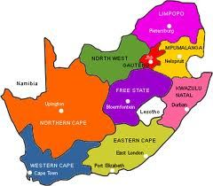 Map Of South Africa Showing 9 Provinces.Map Of The Nine Provinces Of South African Go To Www