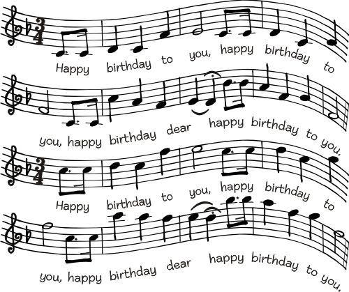 Birthday Sheet Music 763P Sheet music, Birthdays and Happy birthday - music staff paper template