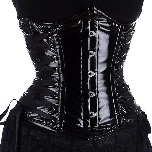 1272817e70c black PVC corset