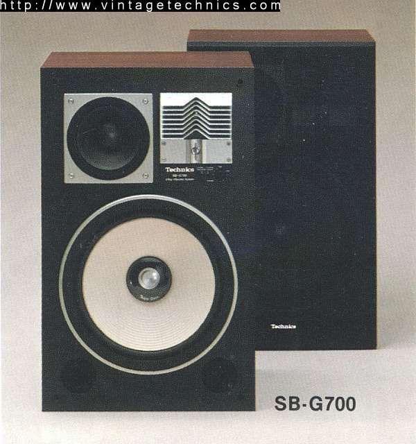 Technics SB G800 7 in midrange with enclosure