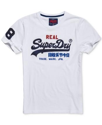 Superdry Orange Label Vintage Emblem T ShirtWhite Men's