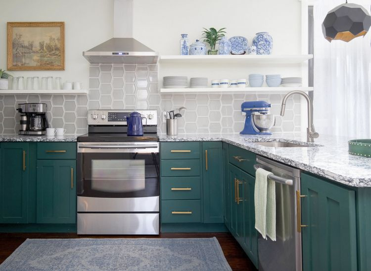 The 2019 Best Dark Greens for Kitchen Cabinets images