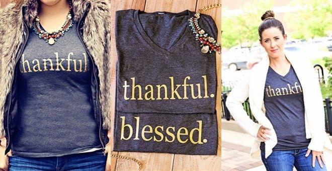 Thankful + Blessed Tees!