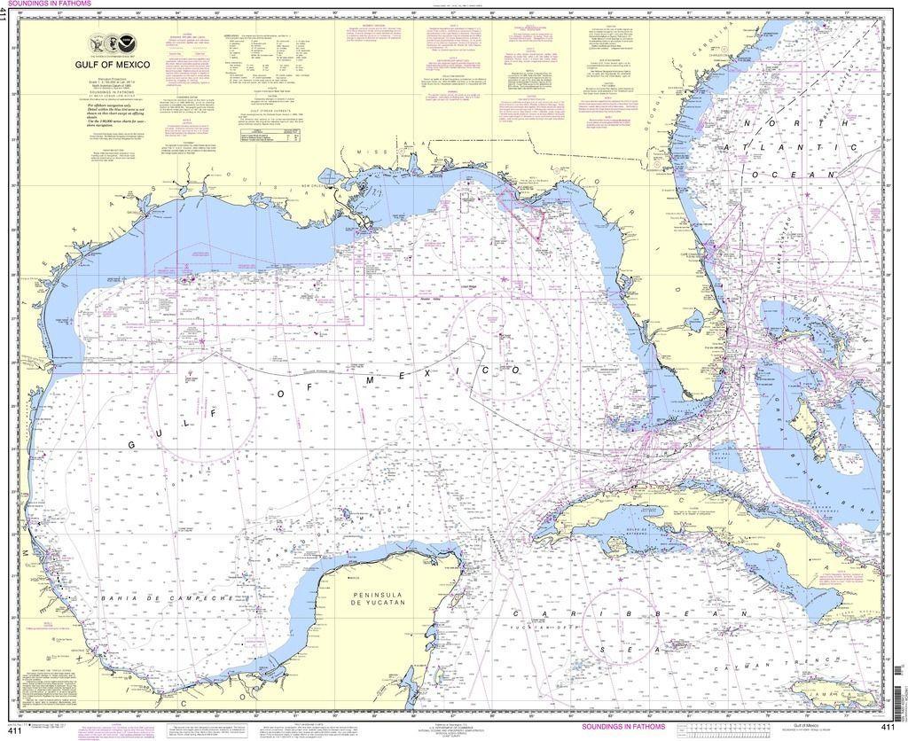 Noaa nautical chart 411 gulf of mexico maps noaa nautical