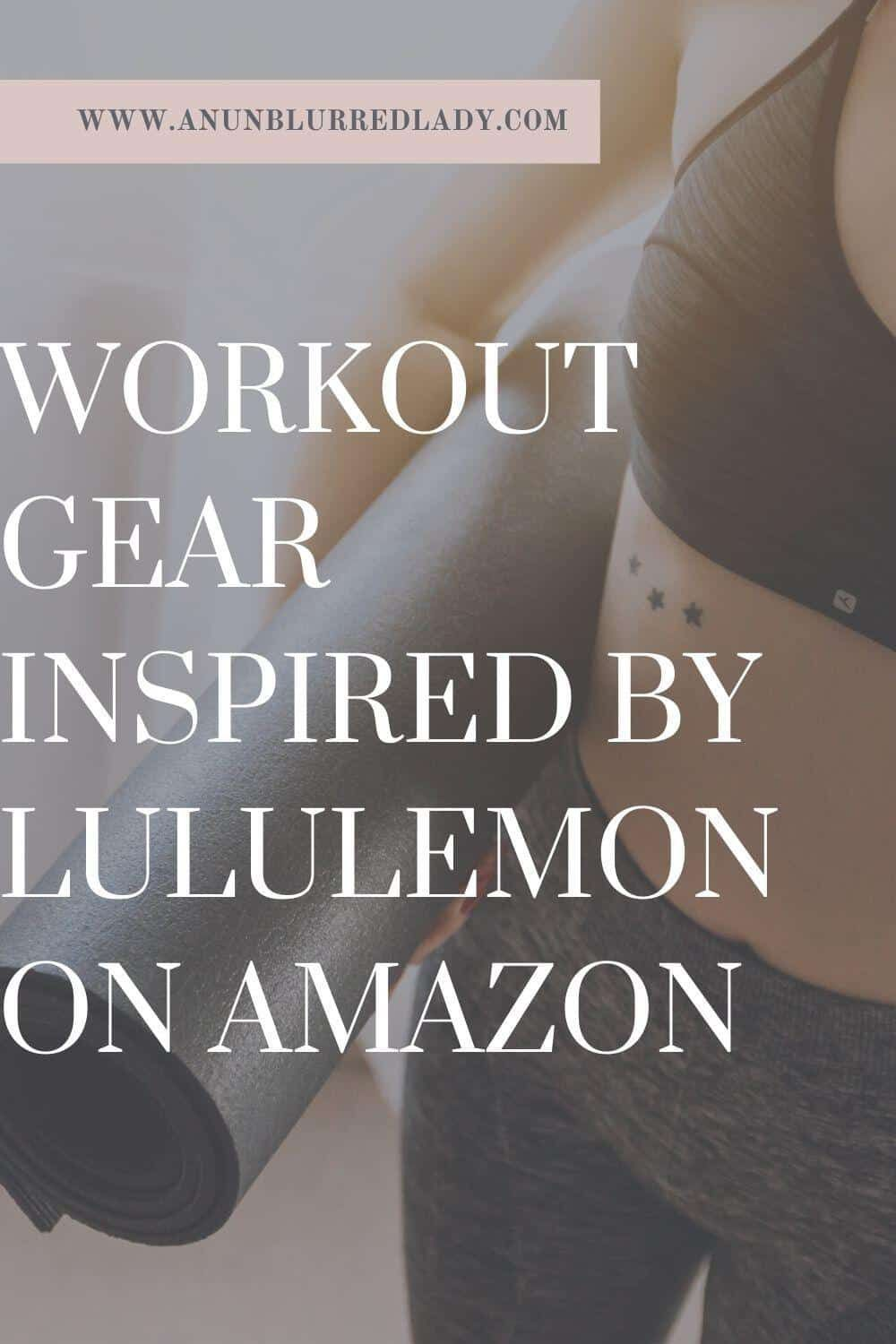 Workout Gear Inspired By Lululemon on Amazon An