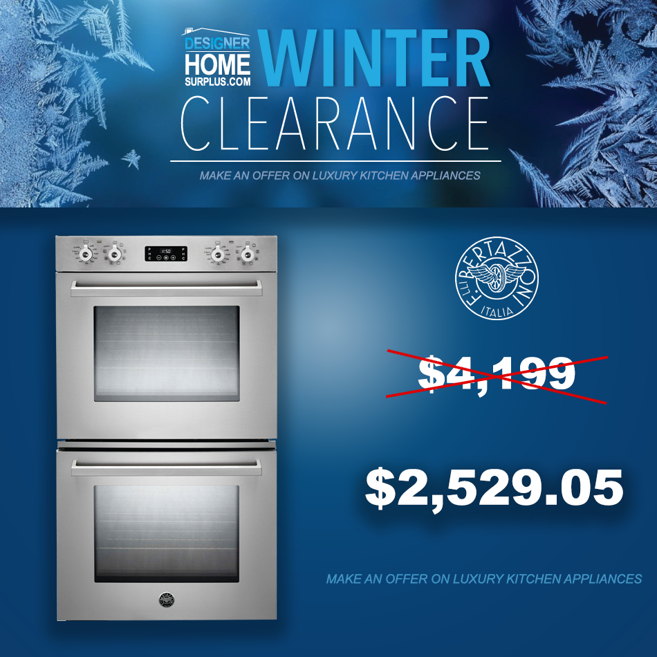 Winter Clearance Sale on Luxury High-End Major Appliances. Bargains ...