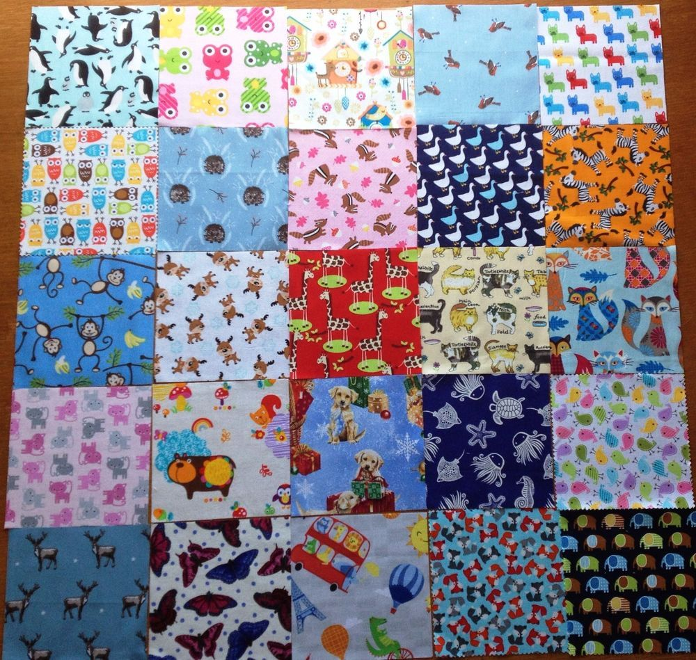 Patchwork Fabric Charm 5 Quot Squares Animal Novelty Cotton