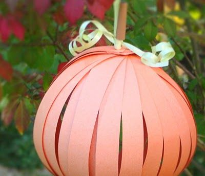 Paper Pumpkin - - Pinned by #PediaStaff.  Visit http://ht.ly/63sNt for all our pediatric therapy pins