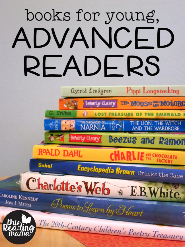 Books for Young Advanced Readers - a book list from This Reading Mama