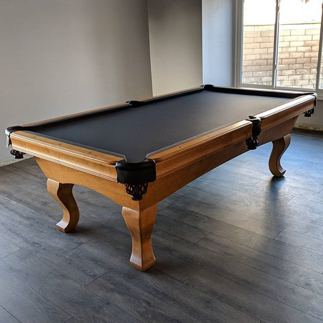 Set Up Foot Artisan With Charcoal Felt New We Also Recushioned The - Delmo pool table