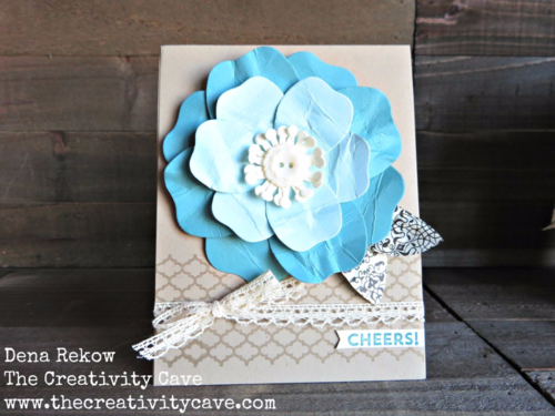 Check out this gorgeous card and the video tutorial on how easy it is to create on my blog using Stampin Up's Bouquet Die.