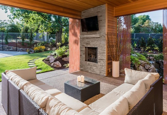 Outdoor Fireplace