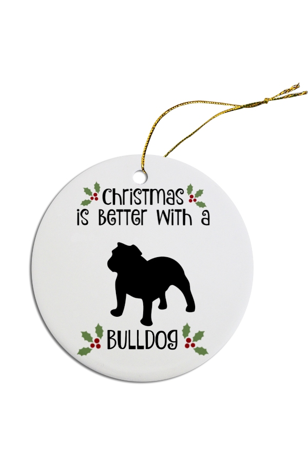 Bulldog Christmas Ornament (With images) | Holiday pet ...