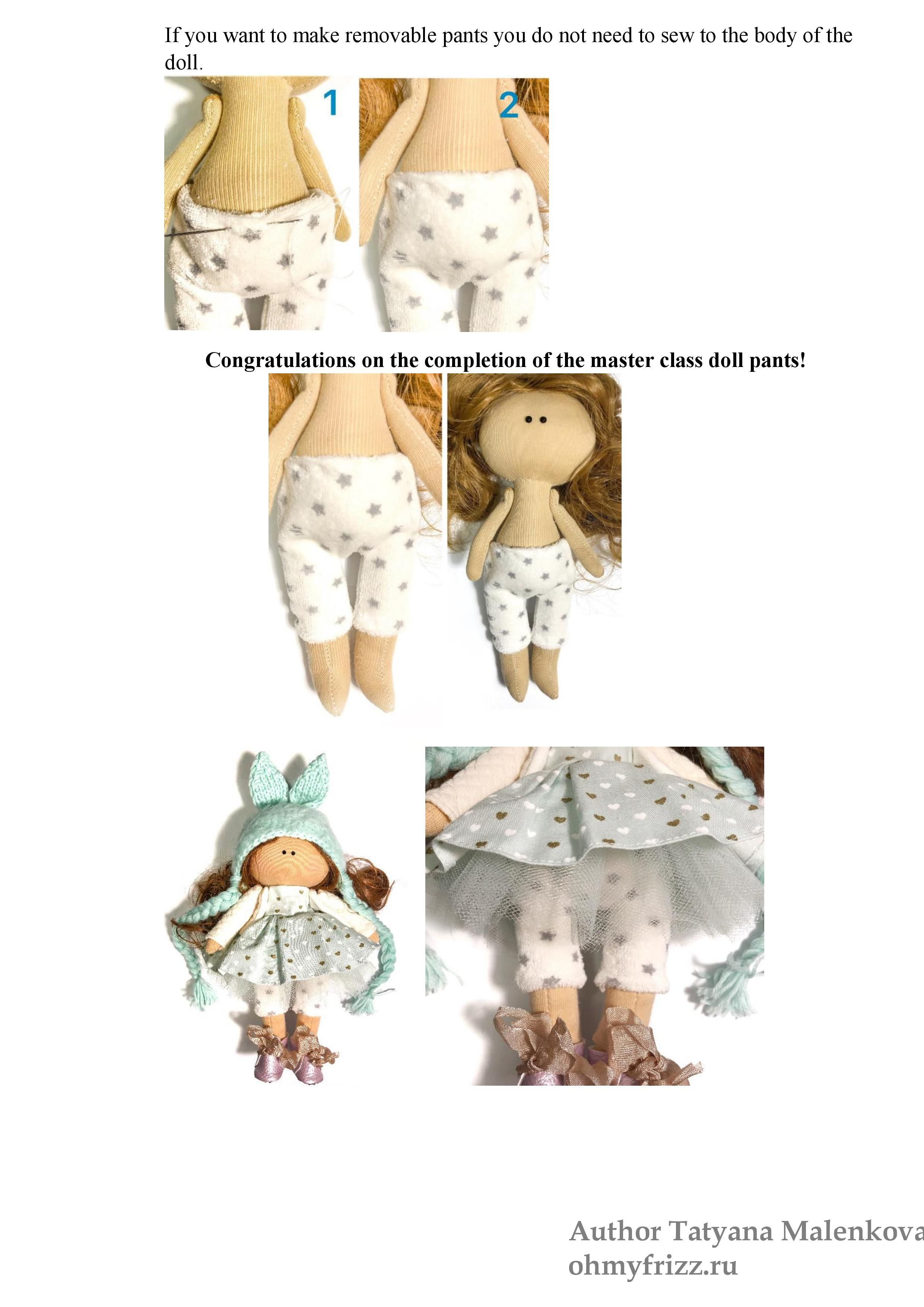 handmade clothes doll clothes pantRSDESPDE leggings