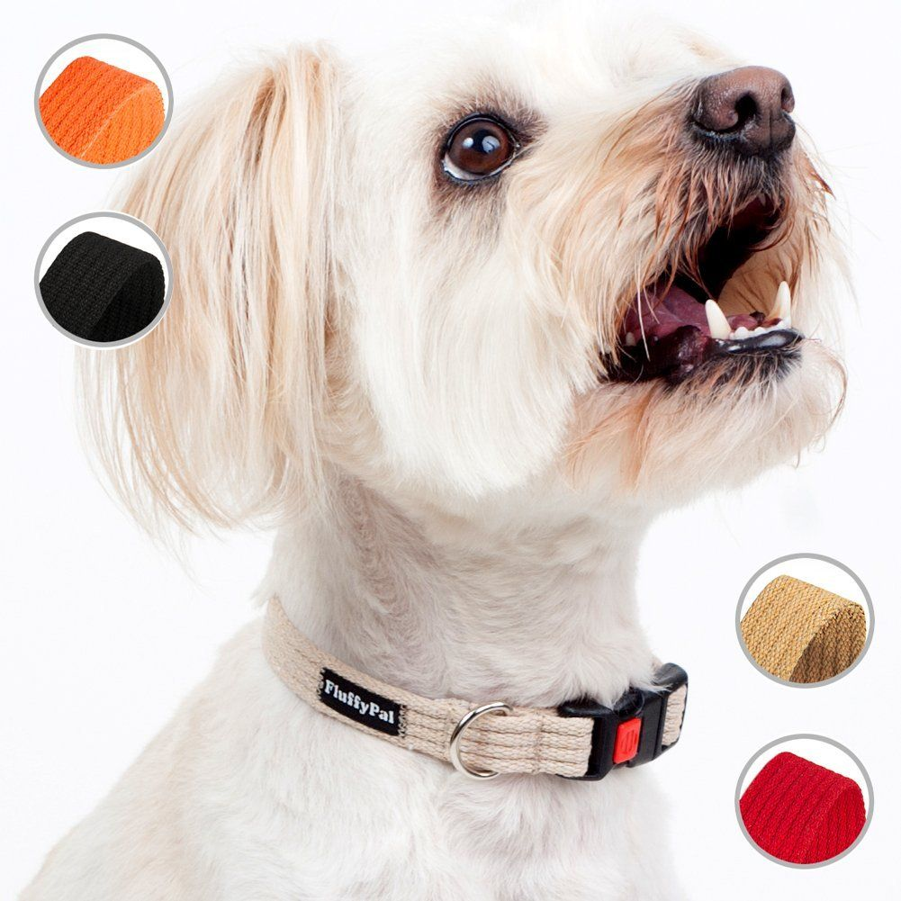 Fluffypal cotton dog collar for small dogs sturdy