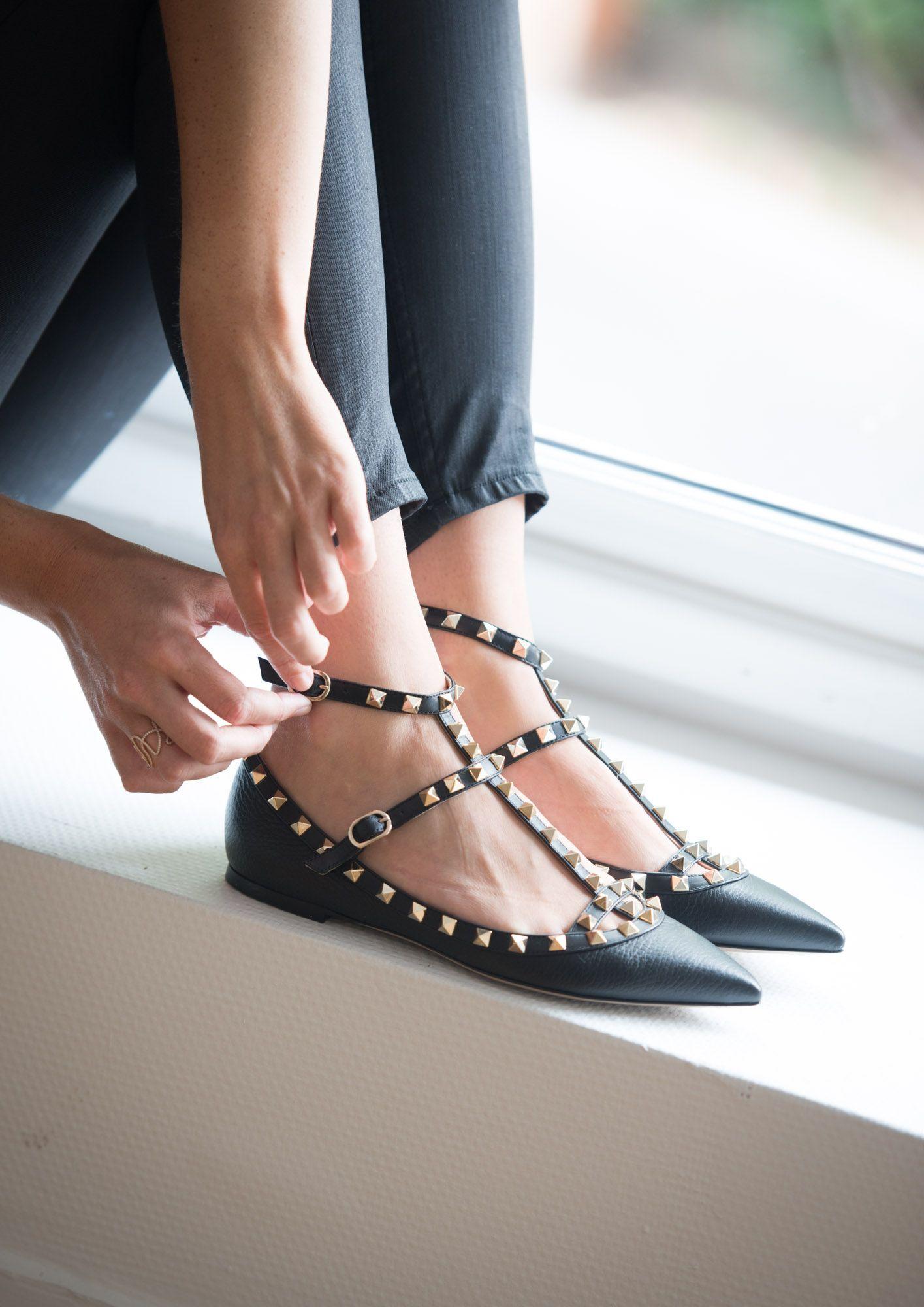 nouveau sélection plus de photos meilleur prix pour 3 Ballerines Noires Rockstud - Valentino …   Shoes   Fashion ...