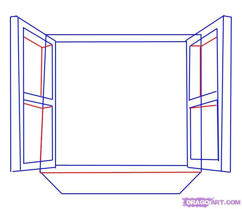 Como Desenhar Uma Janela Aberta Passo A Passo 5 Com Imagens