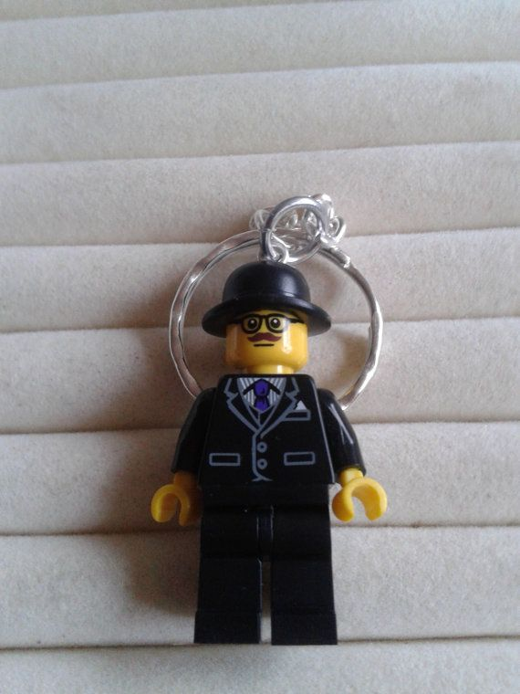 Businessman  keychain keyring  made with LEGO® by simplyproducts