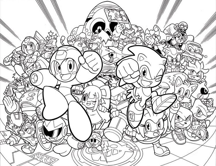 Sonic Coloring Pages Mega Man Coloring Pages Angel Coloring Pages Mega Man