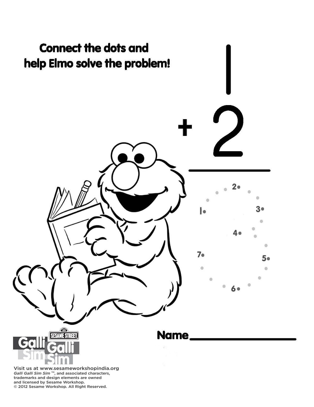 Connect the dots and help Elmo solve the math problem. | animal love ...