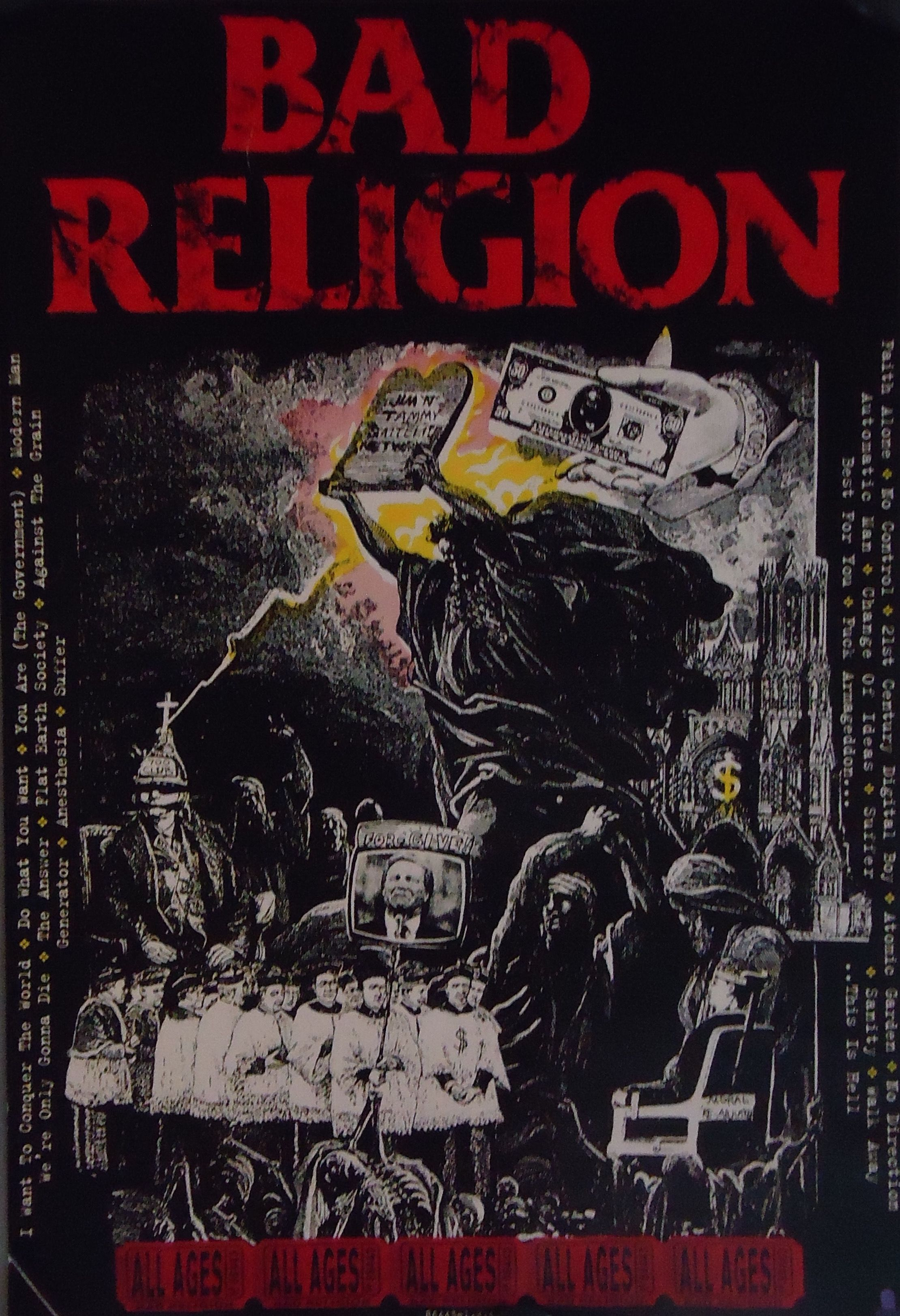 3f78fda007d12e Details about Bad Religion - All Ages - Original Promotional Poster ...