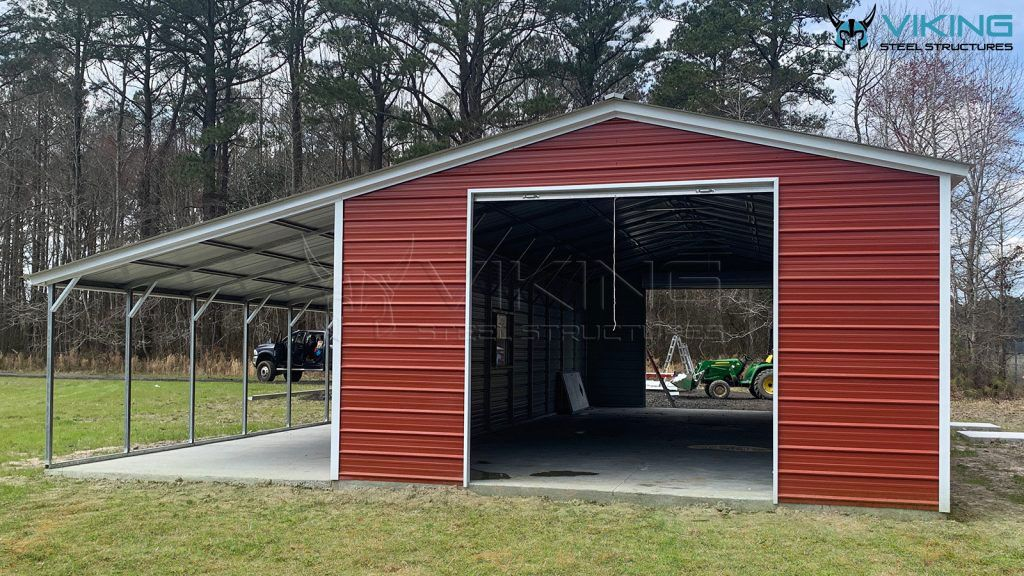 20'x50' Metal Garage with Leanto Lean to, Metal garages