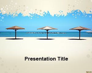 Free umbrella beach powerpoint template free powerpoint free umbrella beach powerpoint template free powerpoint templates toneelgroepblik Images