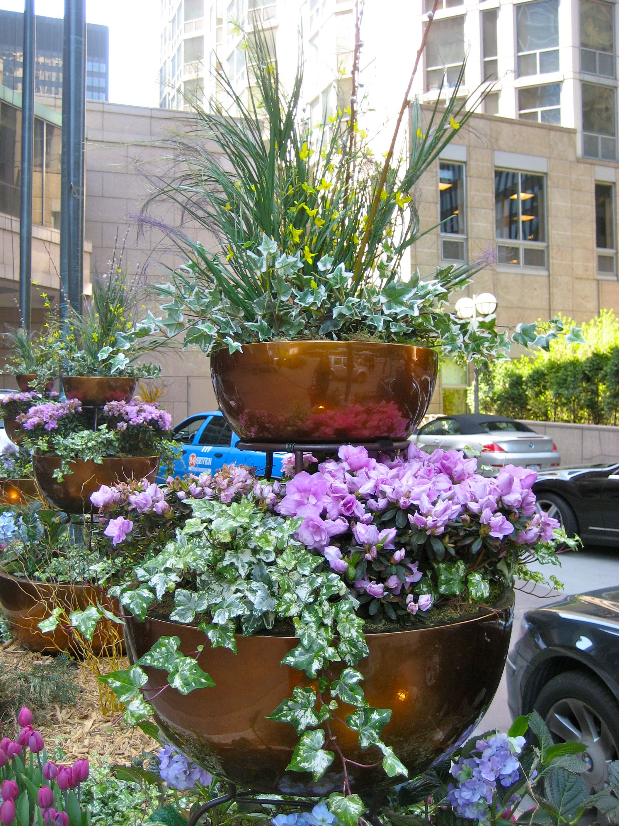 Three Tier Flower Pots Three Tier Container Gardens In Chicago Containers