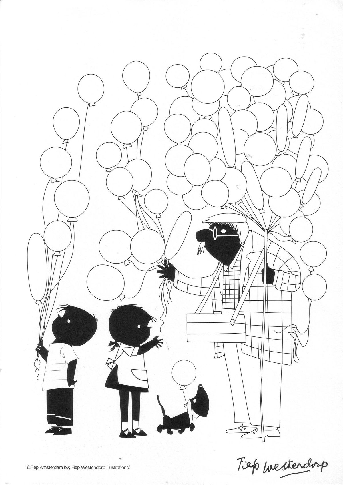 Feest Met Jip En Janneke Lbxxx Ballonnen Knutselen Jip En Janneke Ballon Illustratie
