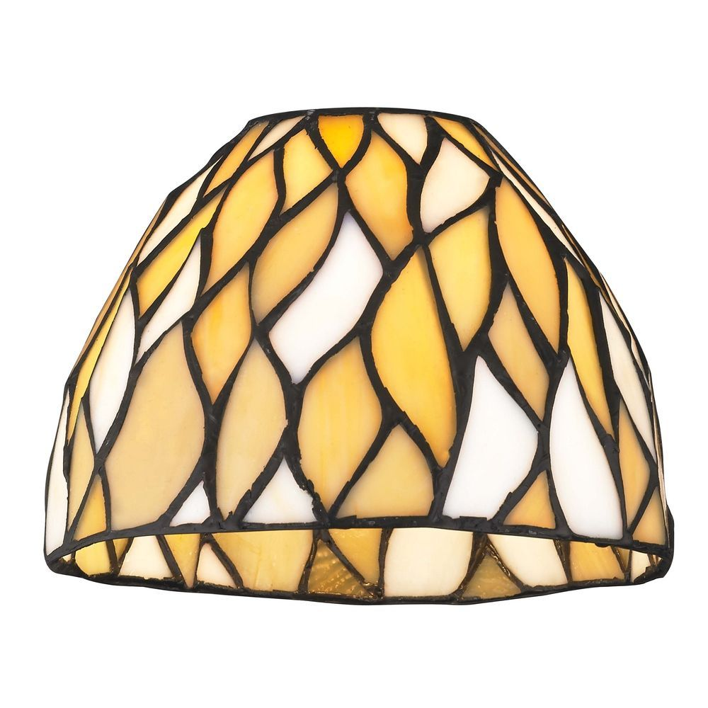 Design classics lighting dome tiffany yellow glass shade