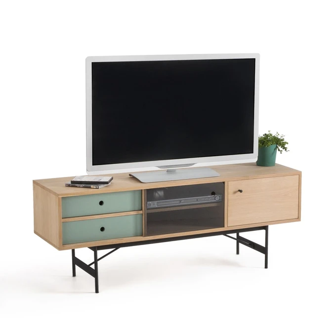 Meuble Tv Multi Rangement Nyjo Taille Taille Unique En 2020 Meuble Meuble Tv Et Rangement