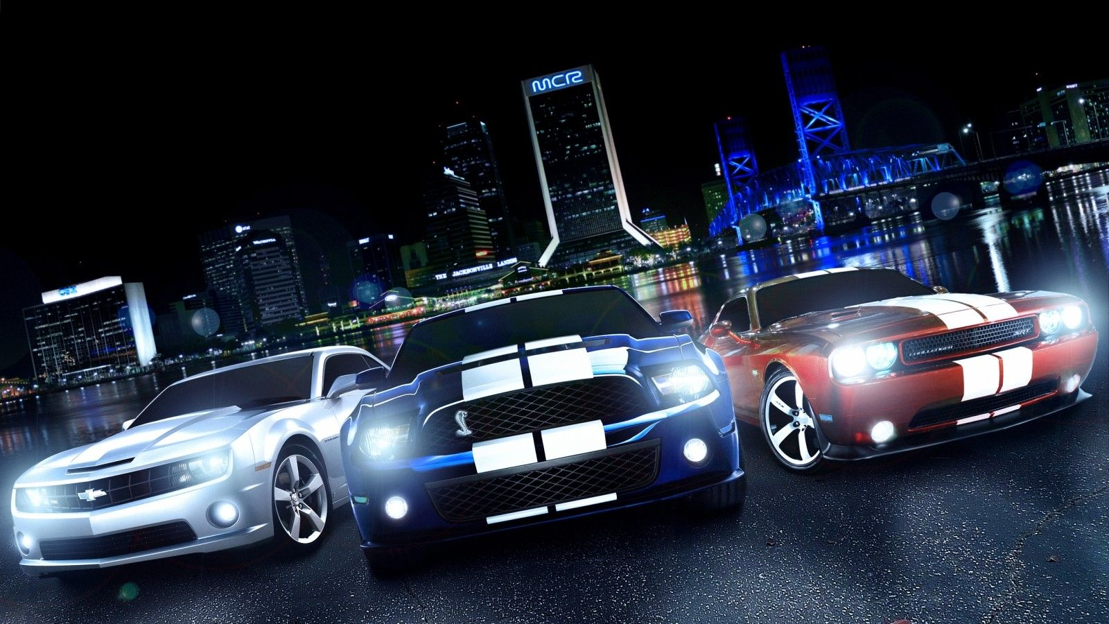 Chevy Camaro Ford Cobra Mustang Dodge Challenger American