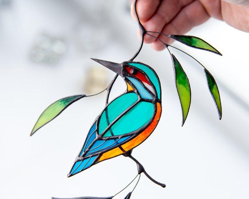 Kingfisher Bird Suncatcher