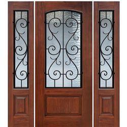 1 Panel Arch Lite St Charles 1 2 Fiberglass Entry Doors Fiberglass Double Entry Doors Fiberglass Exterior Doors