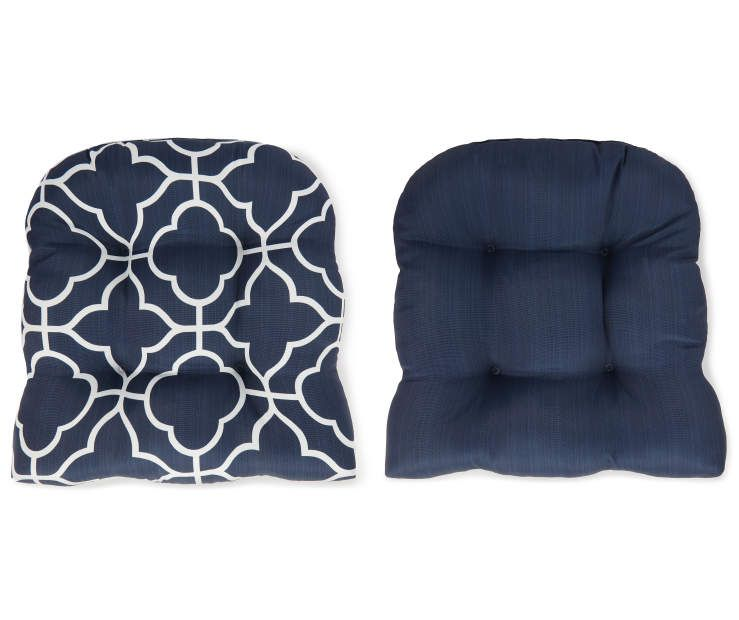 I Found A Fandango Navy Blue Quatrefoil Reversible Outdoor Wicker Chair Cushion At Big Lots For Less Wicker Chair Cushions Outdoor Wicker Chairs Wicker Chair