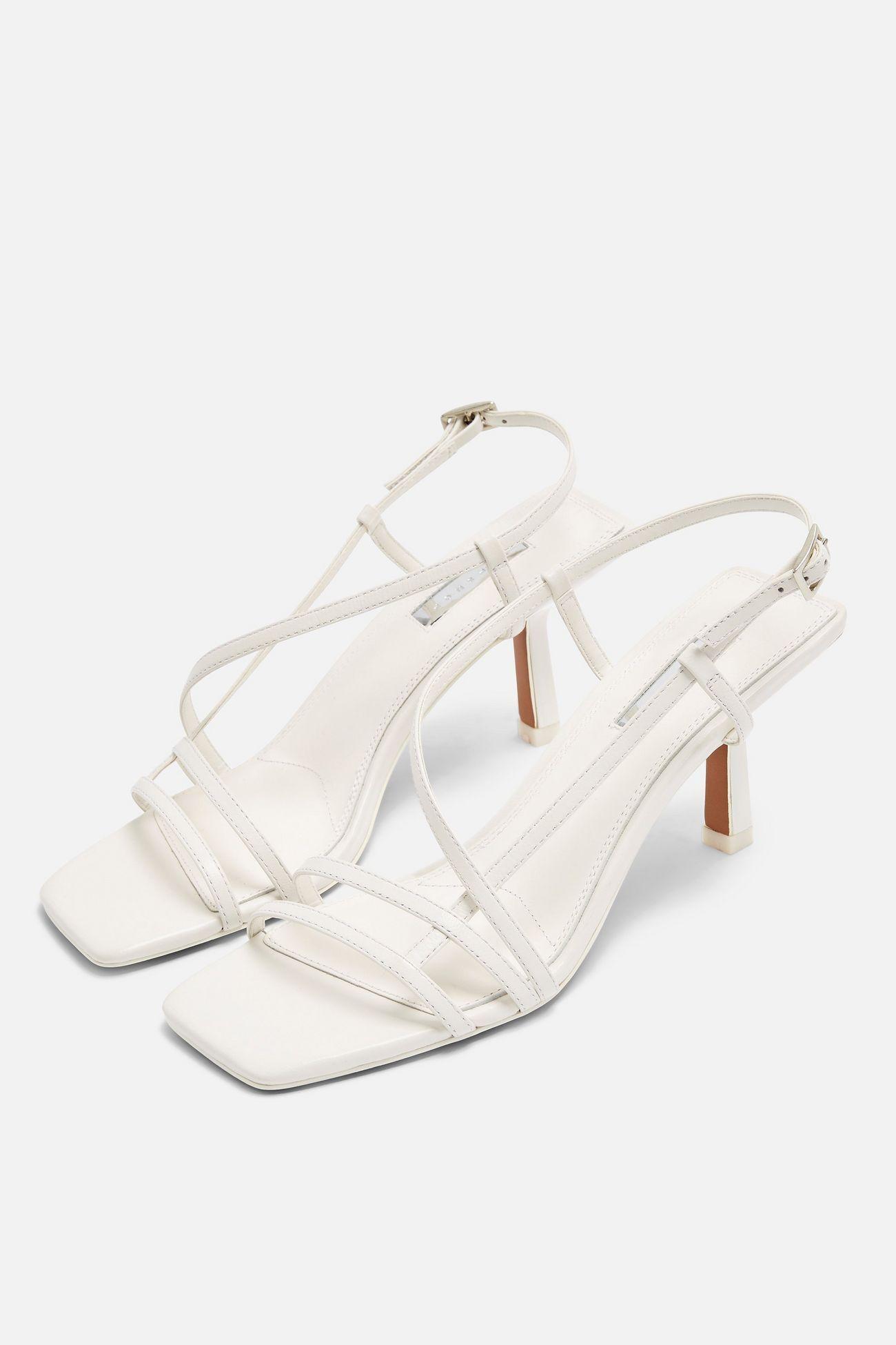 STRIPPY White Heeled Sandals   Topshop