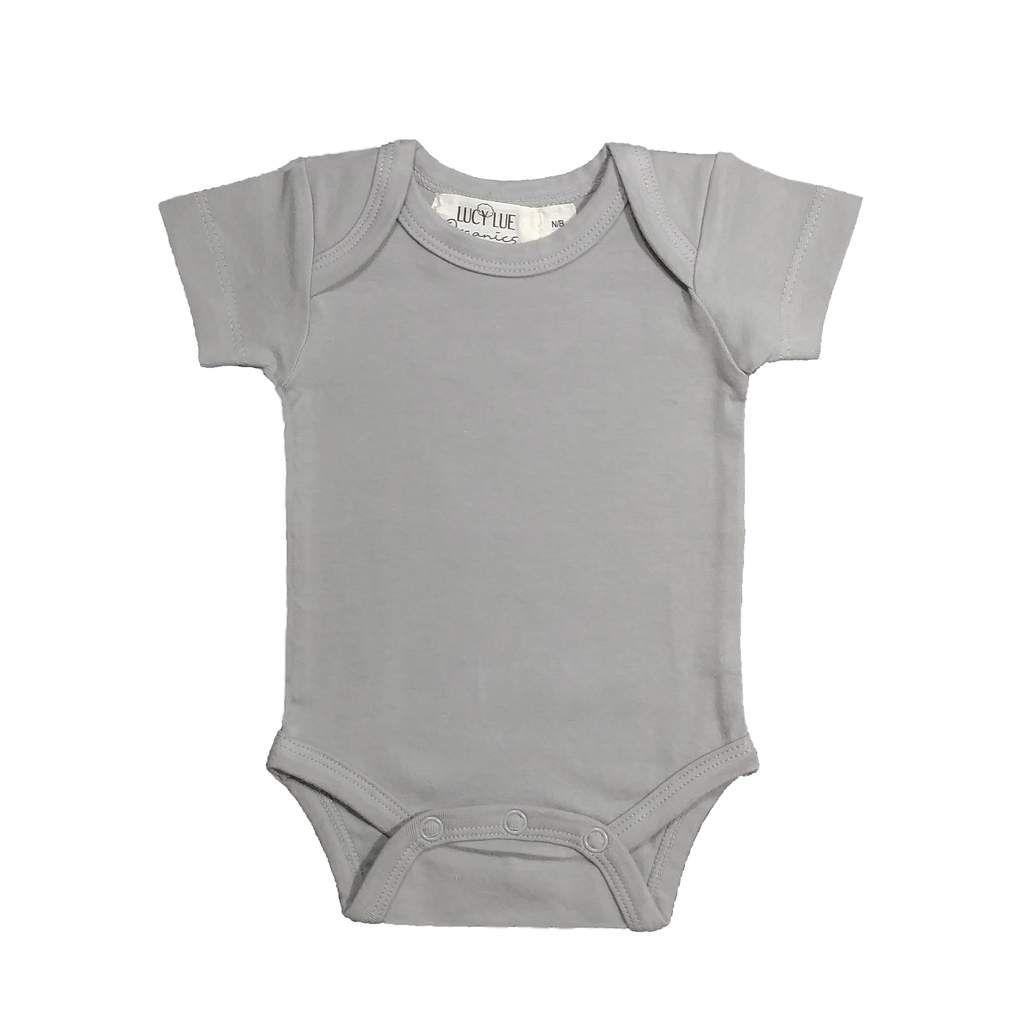 c6ef9033f Organic short sleeve bodysuit - stone grey