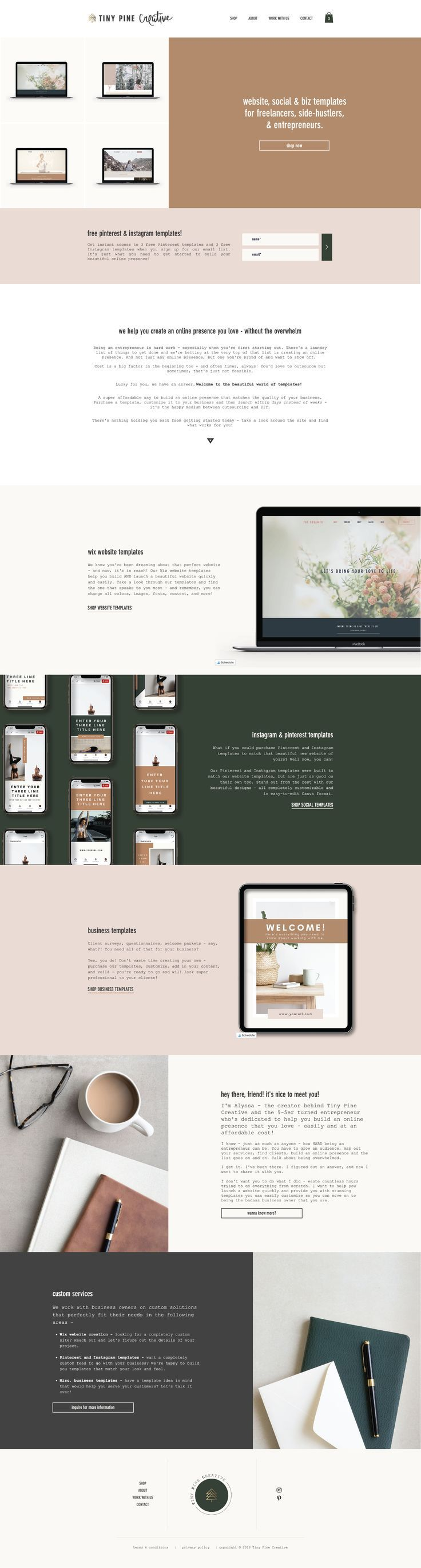 Website Social Business Templates For Entrepreneurs Wix Website Templates Website Template Instagram Template