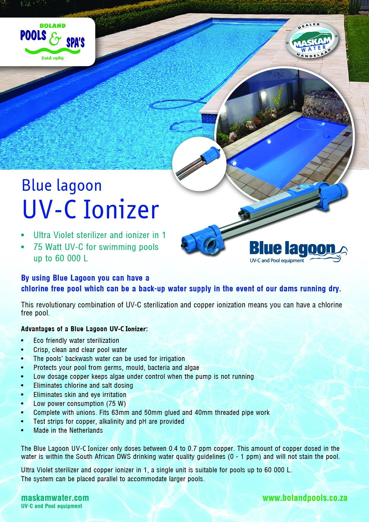 Pin by Boland Pools Worcester on UV-C Blue Lagoon swimming pool ...