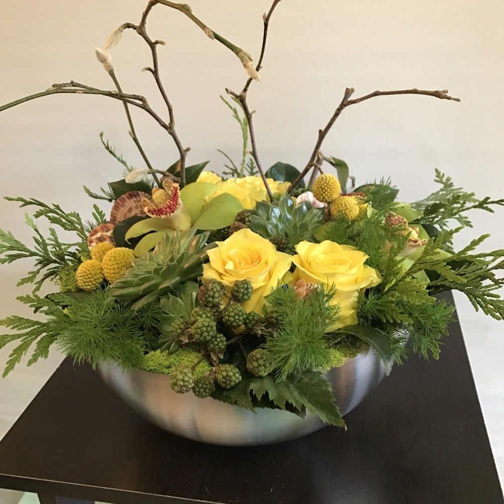 Our texture bowls are a feast for the eyes roses are accented send the large texture bowl bouquet of flowers from fiori floral design in seattle wa local fresh flower delivery directly from the florist and never in a izmirmasajfo