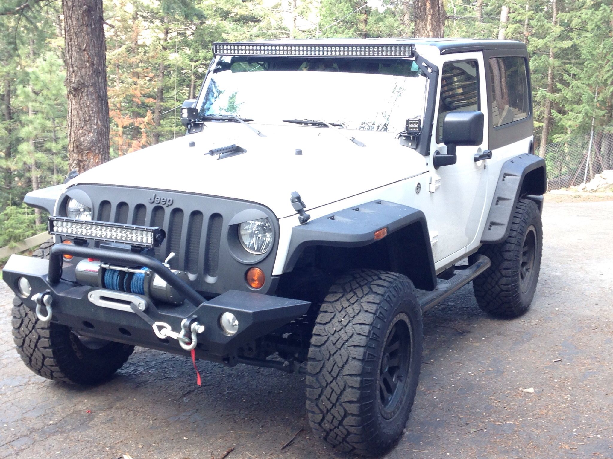 """added a 50"""" rough country led light bar, 20"""" rough country led"""