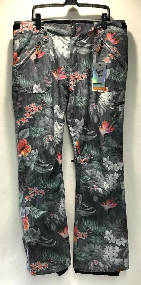 c8c9f0e079a Roxy Women s Nadia Print Snowboard Snow Ski Pants Hawaiin Tropics XL NEW   Roxy